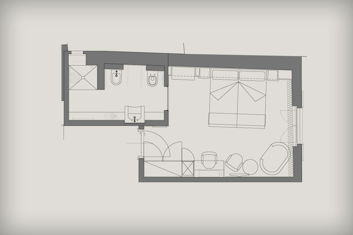 Pianta Camera Da Letto Con Misure : Camere eleganti suite a tema in una esclusiva dimora nobiliare